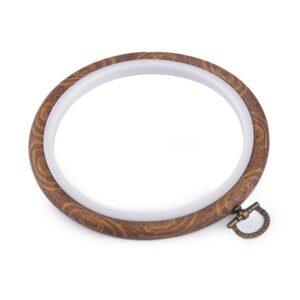 gherghef rotund rama pentru broderie cauciuc 12cm